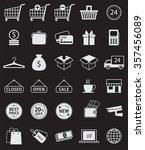 vector set of 30 shopping icon. | Shutterstock .eps vector #357456089