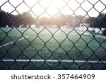 football field with fence | Shutterstock . vector #357464909