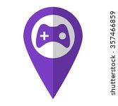 joystick   vector icon   violet ...