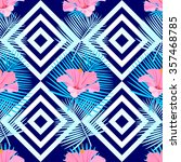 tropical seamless pattern with... | Shutterstock .eps vector #357468785