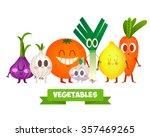 a set of cute vegetables.... | Shutterstock .eps vector #357469265