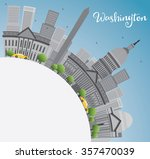 washington dc city skyline with ... | Shutterstock .eps vector #357470039