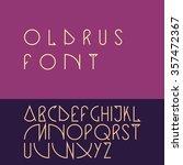 vector linear font   simple...   Shutterstock .eps vector #357472367