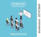 businessman giving a... | Shutterstock .eps vector #357473669
