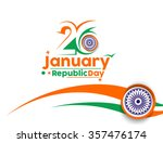 indian republic day concept... | Shutterstock .eps vector #357476174