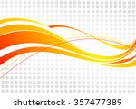 abstract wavy background. Wavy lines on a gray dot background | Shutterstock vector #357477389