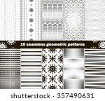 set of 10 different seamless... | Shutterstock .eps vector #357490631