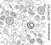 seamless pattern with fruits... | Shutterstock .eps vector #357491765