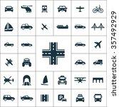 transportation icons universal... | Shutterstock .eps vector #357492929