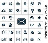 mail icons universal set for... | Shutterstock .eps vector #357492935