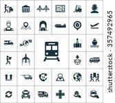logistics icons vector set   Shutterstock .eps vector #357492965