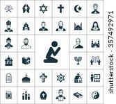 religion icons vector set | Shutterstock .eps vector #357492971