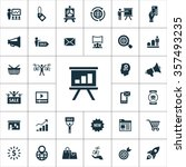 marketing icons vector set | Shutterstock .eps vector #357493235