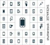 smartphone icons vector set | Shutterstock .eps vector #357493241
