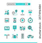 navigation  direction  maps ... | Shutterstock .eps vector #357496484