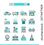 city  transportation  culture ... | Shutterstock .eps vector #357497909