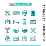 travel  flight  accommodation ... | Shutterstock .eps vector #357498671