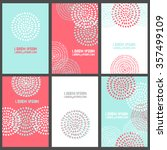 template collection of 6... | Shutterstock .eps vector #357499109