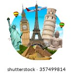 famous monuments of the world... | Shutterstock . vector #357499814