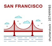 colored san francisco golden... | Shutterstock .eps vector #357499985