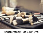 set of brushes  make up... | Shutterstock . vector #357504695