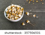 dried chamomile flowers  herbal ... | Shutterstock . vector #357506531