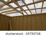 part of a wood house... | Shutterstock . vector #35750728