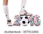 portrait of soccer player ...   Shutterstock . vector #357511001