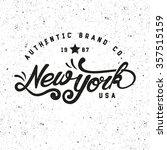 new york authentic brand. retro ... | Shutterstock .eps vector #357515159