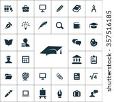 education icons vector set | Shutterstock .eps vector #357516185