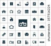 home icons vector set   Shutterstock .eps vector #357516224