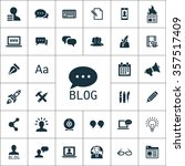 blog icons universal set for... | Shutterstock .eps vector #357517409