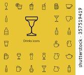 drinks outline  thin  flat ... | Shutterstock .eps vector #357519419
