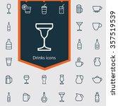 drinks outline  thin  flat ... | Shutterstock .eps vector #357519539