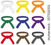 martial arts belts. | Shutterstock .eps vector #357520331