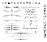 a set of decorative items to... | Shutterstock . vector #357525551