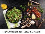lamb's lettuce salad with... | Shutterstock . vector #357527105