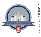 vilnius. round banner  | Shutterstock .eps vector #357528515