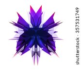 abstract object with triangular ... | Shutterstock . vector #357531749