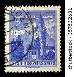 austria   circa 1960  a stamp... | Shutterstock . vector #357532631