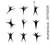 set of stylized black figures | Shutterstock .eps vector #35753539