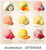 set of cartoon vector icons.... | Shutterstock .eps vector #357540365