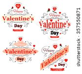 happy valentines day  vector... | Shutterstock .eps vector #357550871