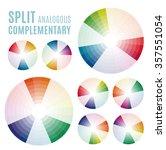 psychology of color perception. ... | Shutterstock .eps vector #357551054
