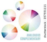 psychology of color perception. ... | Shutterstock .eps vector #357551111