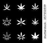 vector white marijuana icon set. | Shutterstock .eps vector #357553559