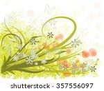 spring green flowers background | Shutterstock .eps vector #357556097