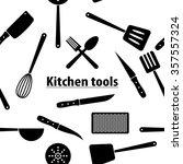 kitchen tools seamless pattern  ... | Shutterstock .eps vector #357557324