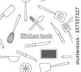 Kitchen Tools Seamless Pattern...