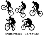 vector image of sports bike.... | Shutterstock .eps vector #35755930